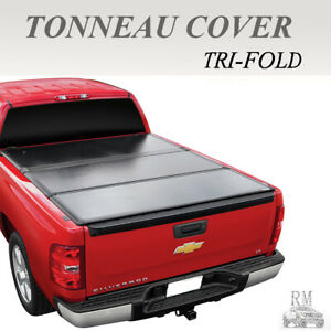 Lock Tri Fold Hard Solid Tonneau Cover Fit 2005 2019 Nissan Frontier 5 Ft Bed
