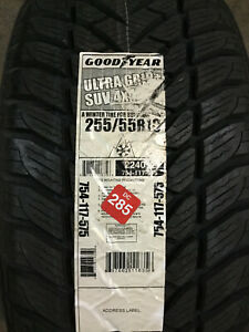 2 New 255 55 18 Goodyear Ultra Grip Suv 4x4 Snow Tires