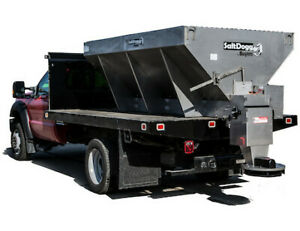 Buyers Saltdogg 4 Yard 9 Electric V Box Spreader Extended Stainless Chute