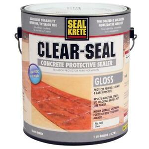 Seal krete Clear seal 1 Gal Gloss Interior exterior Concrete Protective Sealer