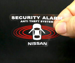 For Nissan 2 Car Alarm Decals Inside Outside Glass Security System Stickers