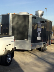 Used 2016 Barbecue Rig Ready To Roll Bbq Concession Trailer With Porch For Sal