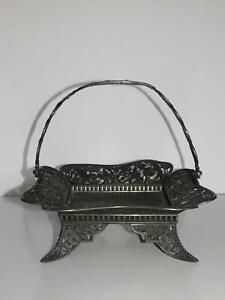 F S Myers Co The Globe Quadruple Plate Square Victorian Brides Basket Holder