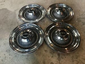 1964 Buick Riviera Hubcaps Hub Caps Set Of 4