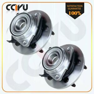Pair Front New Wheel Hub Bearing Assembly For Ford Expedition Navigator Rwd Abs