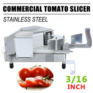 3 16 Commercial Tomato Slicer Fruit Vegetable Cutter Manual Cutting Machine