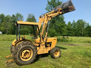 New Holland Ford 445d Tractor Loader 1341 Hours New Tires Hydraulic Remote
