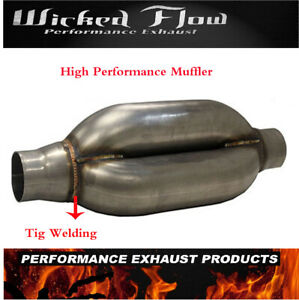 Wicked Flow High Performance Muffler 2 5 inlet Outlet Km 250 Kamikaze