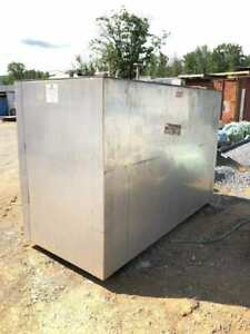 Stainless Steel Jacketed 1000 Gallon Holding Tank 38 x65 x95 W 4 Thick Walls