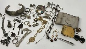 Lot Of Sterling Silver 925 Scrap Or Wear Mixed Jewelry Grams 195 6 Grams