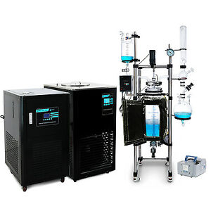 Usa Lab 50l Single Jacketed Glass Reactor Turnkey System