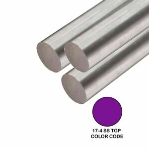 17 4 Tgp Stainless Steel Round Rod 0 500 1 2 Inch X 48 Inches 3 Pack