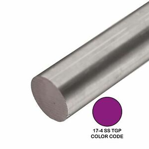 17 4 Tgp Stainless Steel Round Rod 0 500 1 2 Inch X 36 Inches