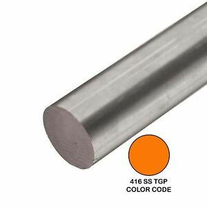 416 Tgp Stainless Steel Round Rod 0 500 1 2 Inch X 48 Inches