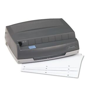 50 sheet 350md Electric Three hole Punch 9 32 Holes Gray