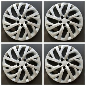 New Wheel Covers Hubcaps Fits 2017 2018 Toyota Corolla Le 16 Silver Set Of 4