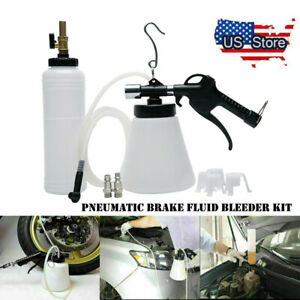 1l Pneumatic Brake Fluid Bleeder Kit Car Air Extractor Clutch Oil Bleeding Tools