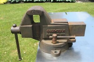 Columbian Bench Vise 603 1 2 With Swivel 34 Lbs 3 1 2 Machinist Smooth Jaws