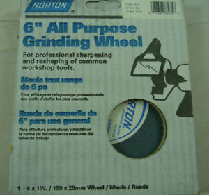 Norton 6 All Purpose Fine Grit Grinding Wheel Sharpening 1 New Nos