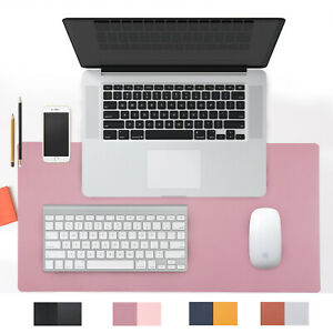 Dual Sided Brown Pu Leather Desk Pad Mat Desk Blotter Protector 31 4x 15 7inch