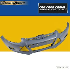 New Fo1000664 Bumper Cover Kit Front For Ford Focus 2012 2013 2014 Black