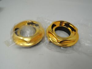 Bbs Rs Gold Hex Nuts Rc Center Caps 15 16 17 18 19 Inch Large Thread 2 76in Vw