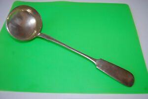 Antique Russian Sterling Silver 84 Ladle Large Serving Spoon