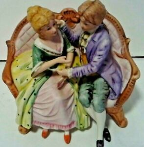 Vintage Victorian Courting Couple Figurine Couple On Couch