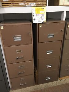4 Drawer Letter Size Fireproof File Cabinet By Fireking With Key Lock
