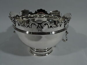 George V Bowl Antique Edwardian Centerpiece Monteith English Sterling Silver