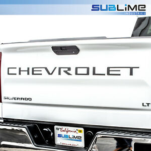 Tailgate Letters Insert Raised Plastic not Decals Fit 2019 Chevrolet Silverado