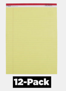 12 Pack Mead Legal Pad 8 5 X 11 Yellow Bond Note Paper 50 Sheets Ruled 3 8