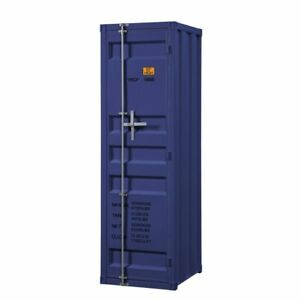 Acme Cargo Wardrobe Armoire With 1 Door In Blue