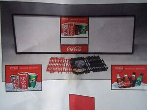 New 6ft Coca cola Menu Board Sign 6 Sets Of Coke 1 11 Diff Flavor Badges