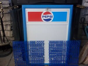 Nos 70 s Era Ec Lrg Size Pepsi cola Menu Board Sign W new Letter