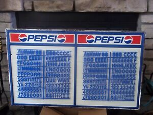 L k Nos 3ft Pepsi cols Menu Board Sign W letters Numbers Sets
