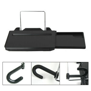 Portable Folding Car Steering Wheel Desk Laptop Mount Back Seat Food Tray Stand