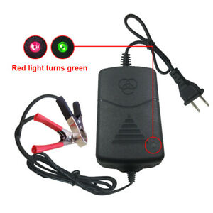 Auto Car Motorcycle 12v Battery Charger Maintainer Amp Volt Trickle New