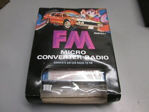 Vintage Amertronic Am To Fm Converter Bls 1 Micro Radio New Old Stock Nos