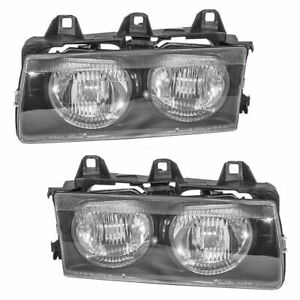 1992 1999 Bmw 3 Series E36 Headlamp Assembly Passenger Driver Rh lh Pair Set