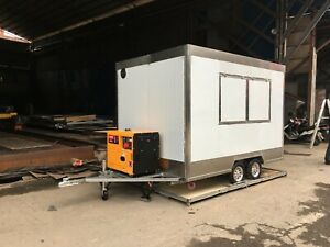 Brand New 3mx1 8m Concession Stand Trailer Kitchen 3kw Generator Ship By Sea