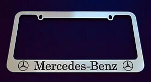 Mercedes Benz License Plate Frame Custom Made Of Chrome Zinc Metal
