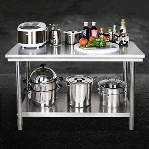 Stainless Steel Kitchen Table Shelf Racks 2 Layer Thickened Shelves Storage Rack