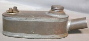 Antique Tin Specialty Whale Oil Lamp Early American Heater Primitive Lighter Old