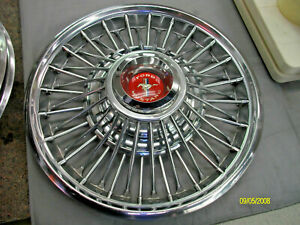 Ford Mustang 1967 1968 Set 14 Wire Spoke Wheel Covers Hubcaps