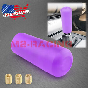 Purple Shift Knob Stick Frosted Matte Crystal Bubble Throw Gear Shifter 10cm