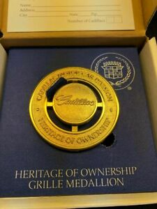 Cadillac Heritage Of Ownership Gold Grille Medallion 1997 8 Deville New In Box