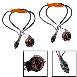 3157 4157 Conversion Kit No Error Led Bulb Load Resistor Bypass Wiring Adapters