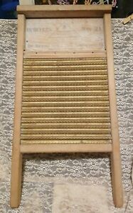 Vintage Washboard Hercules No 21 Norwood Sash Door Manufacturing Co Ohio