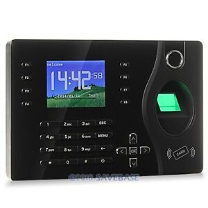 Biometric Fingerprint And Rfid Card Attendance Time Clock tcp ip Pc Software